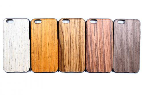 Wood silicon case
